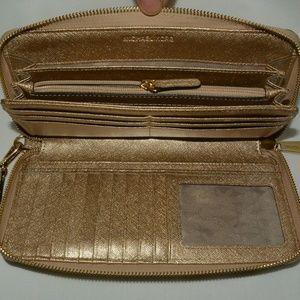 Michael Kors Metallic Leather Continental Wallet